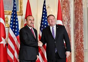 turkish foreign minister discusses defence, syria with pompeo