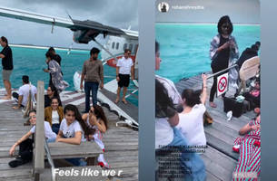 malaika arora lives life queen size; vacations in maldives once again