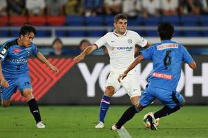 picture special: christian pulisic's first appearance in a chelsea shirt on tour of japan