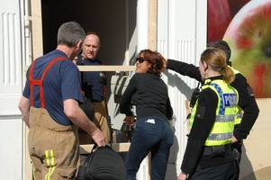 The bizarre moment trapped dominatrix rescued from 'massage parlour' in busy Hull street