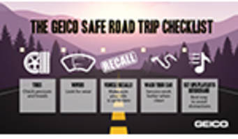 road trip: geico says make it memorable and make it safe