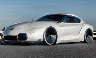 toyota supra rendered with 2000gt look, is classic and futuristic