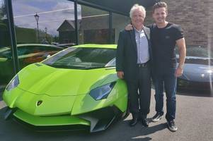 take a look at the £100 million worth of supercars as party rolls in