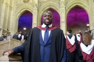 saracens rugby player josh ibuanokpe graduates in physics from bristol university