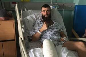 former bishop's cleeve defender to miss at least two months' wages after breaking leg in pre-season friendly