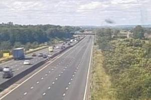 lorry driver dies in serious m6 crash