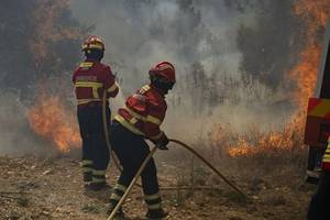 at least 33 injured by portugal wildfires