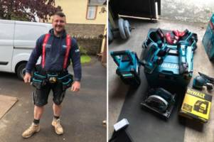 carpenter loses his livelihood after thousands of pounds of tools are stolen from his van - twice