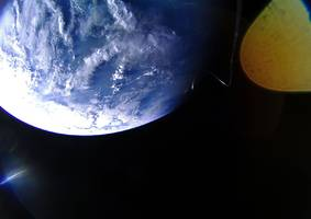 the first 'solar sailing' spacecraft is about to unfurl in orbit. it will be powered purely by light.