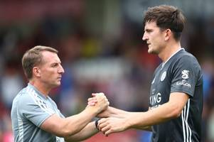 brendan rodgers provides update on harry maguire situation and reveals vice-chairman's stance