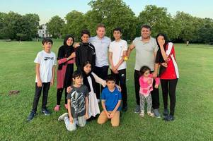eoin morgan joins afghan family for cricket game in park after england world cup win