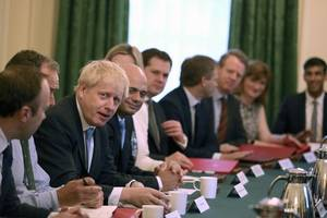 boris johnson tells new cabinet 'no ifs, no buts', brexit by halloween