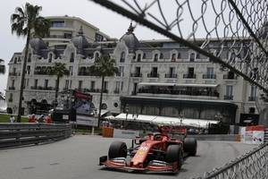 leclerc on top with vettel as ferrari shine in the sun