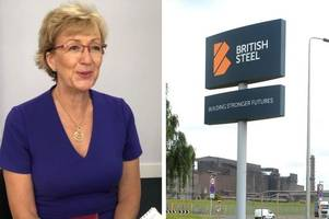 live updates as new business secretary andrea leadsom visits british steel works in scunthorpe