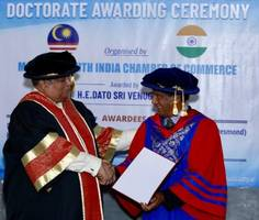 dr. sailesh lachu hiranandani received doctrate from malaysia south india chamber of commerce