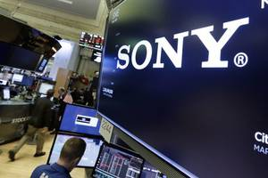 sony profits down by a third in first quarter