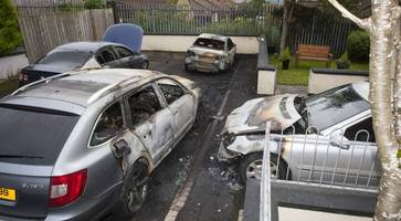 family terror after four cars torched outside derry home