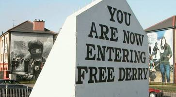 soldier f graffiti removed after appearing on free derry corner overnight