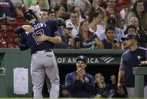 zunino, meadows homer, rays beat red sox 9-4