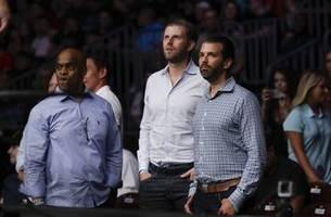 president trump's sons watch fan covington beat lawler
