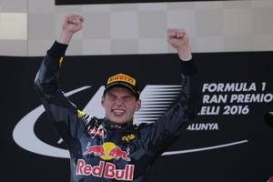 Max Verstappen claims his first-ever pole position in Formula One