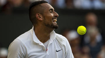 kyrgios delights fans with antics before beating tsitsipas to reach citi open final