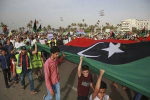 libyan rebel leader's forces take responsibility for deadly airstrike on southern town