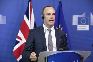 uk foreign secretary raab vows to 'build a stronger alliance' against russia, iran after brexit