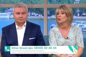 this morning viewers stunned by ruth langsford's brutal warning to husband eamonn holmes