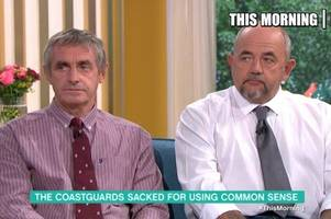 This Morning viewers' outraged as 'heroic' Devon coastguards were sacked for using 'common sense'