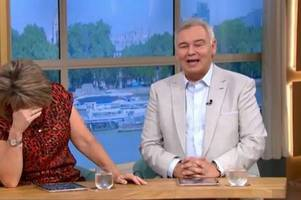 this morning hosts eamonn holmes and ruth langsford leave son red-faced after making sex jokes live on air