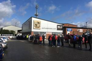 Huge queues at Port Vale as Salford tickets go on sale