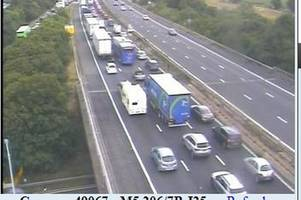 Huge queues on M5 after accident - live updates