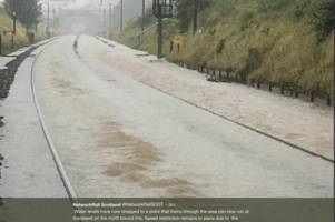 flooded train tracks force service closure between cumbria and scotland