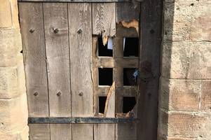 burglars smash their way into one of our area's best known churches