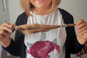brave tamworth girl has long locks cut off for cancer sufferers