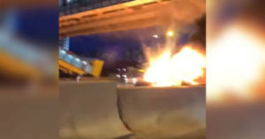 Watch a Tesla Model 3 Explode on the Side of a Russian Highway