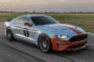 dealer offers special mustang with gulf livery, 808 horsepower