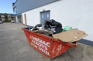 customer bank details from defunct retailer are found in a skip