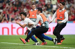 Liverpool vs Chelsea UEFA Super Cup clash disrupted by pitch invader