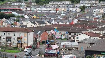 police: parachute regiment and soldier f banners on derry bonfire a hate incident