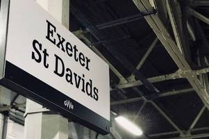 homeless man allegedly defies railway ban at exeter st davids
