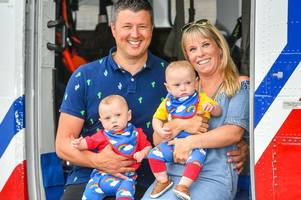 britain's youngest-surviving pre-term twins meet the heroes who saved their lives
