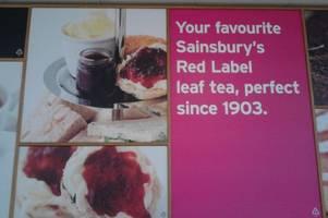 sainsbury's gets its cream tea poster so very wrong
