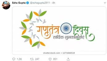 Esha Gupta trolled for sharing Republic Day wishes, claims account was hacked