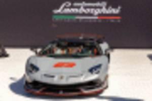 exclusive lamborghini aventador svj 63 roadster and huracan evo celebration debut in monterey