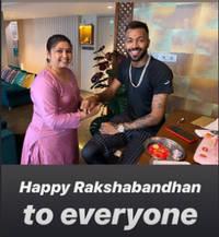 Hardik Pandya, Suresh Raina, Shikhar Dhawan celebrate Raksha Bandhan