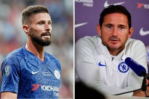 olivier giroud reveals what frank lampard is really like inside the chelsea dressing room