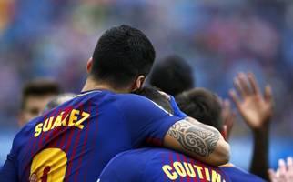 barcelona confirm calf injury for luis suarez