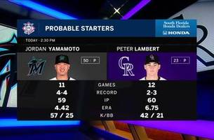 jordan yamamoto takes hill for marlins in series finale vs. rockies